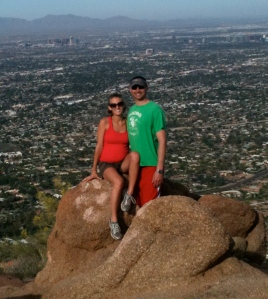 At the top of Camelback Mountain